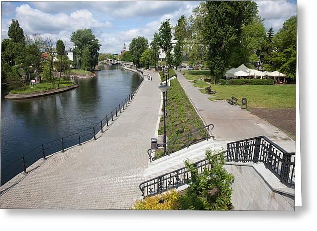 City Of Bydgoszcz In Poland Greeting Card by Artur Bogacki