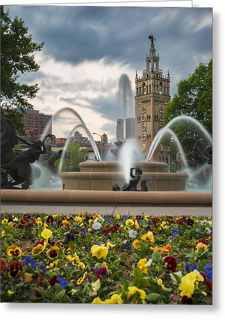 City Of Fountains Greeting Card by Ryan Heffron