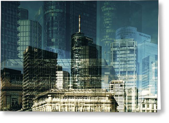 city of Frankfurt Greeting Card by Claudia Moeckel