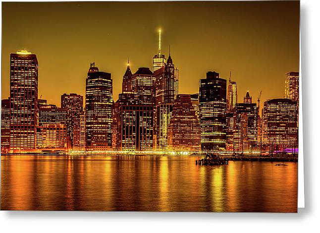 Greeting Card featuring the photograph City Of Gold by Chris Lord