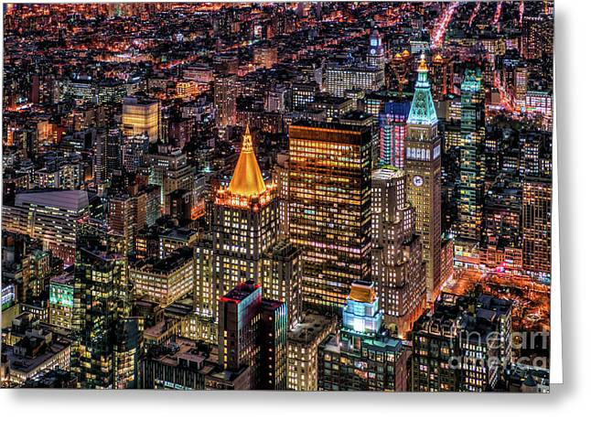 City Of Lights - Nyc Greeting Card