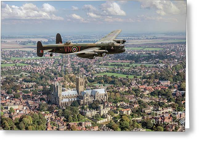 Greeting Card featuring the photograph City Of Lincoln Vn-t Over The City Of Lincoln by Gary Eason