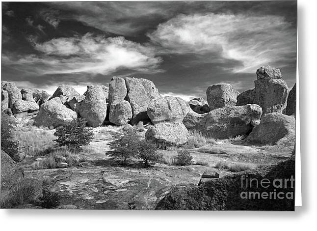 Greeting Card featuring the photograph City Of Rocks And Sky by Martin Konopacki