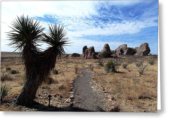 City Of Rocks - New Mexico Greeting Card