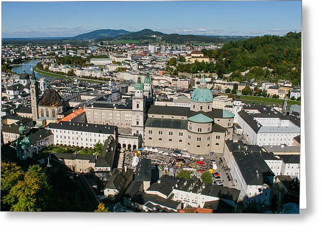Greeting Card featuring the photograph City Of Salzburg by Silvia Bruno