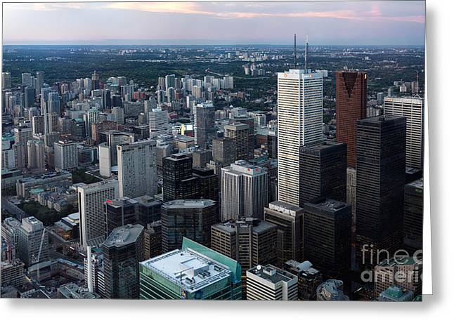 Dominion Greeting Cards - City of Toronto Downtown Greeting Card by Oleksiy Maksymenko
