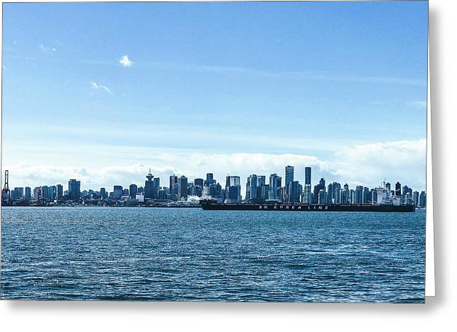 City Of Vancouver From The North Shore Greeting Card