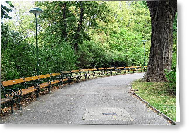 City Park, Vienna Greeting Card by Christian Slanec