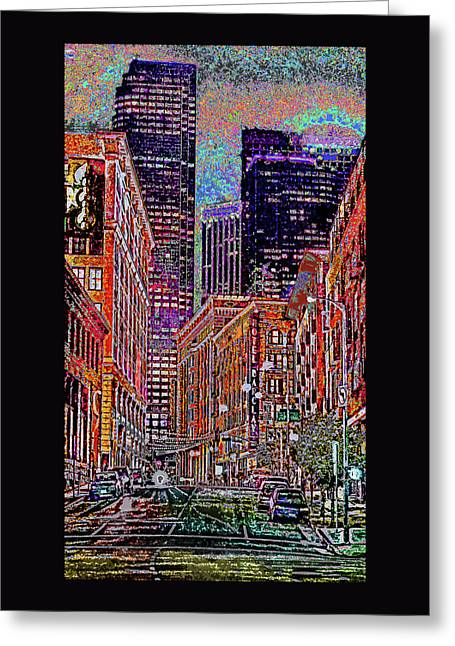 City Perspective  Greeting Card by Kenneth James