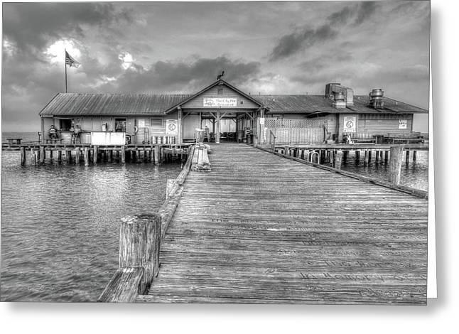 City Pier Anna Maria Island Greeting Card