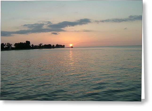 City Pier Holmes Beach Bradenton Florida Greeting Card