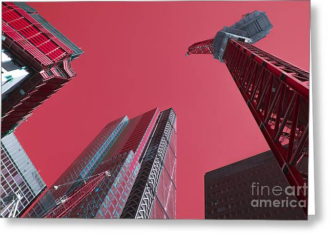 City Pink  Greeting Card by Rob Hawkins