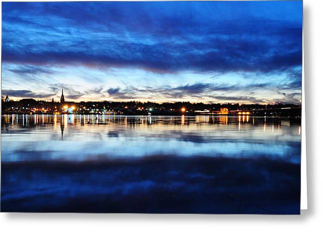 City Reflections Greeting Card by Tor  Johannessen