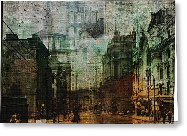 City Rising Greeting Card by Nicky Jameson
