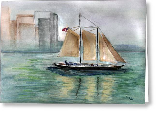 City Sail Greeting Card