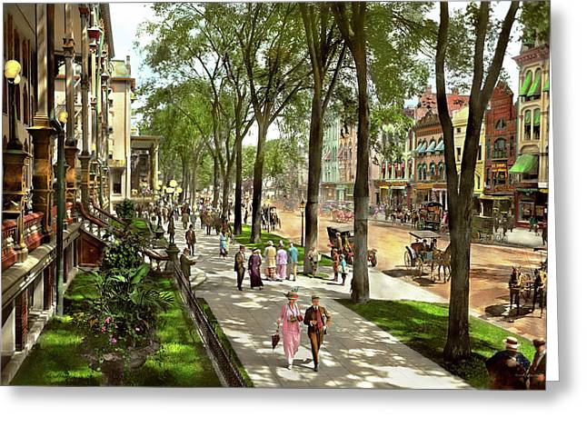 City - Saratoga Ny -  I Would Love To Be On Broadway 1915 Greeting Card