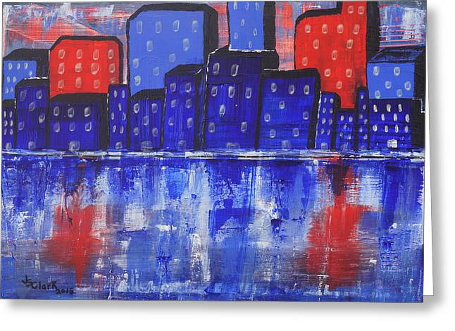 City Scape_abstract Greeting Card