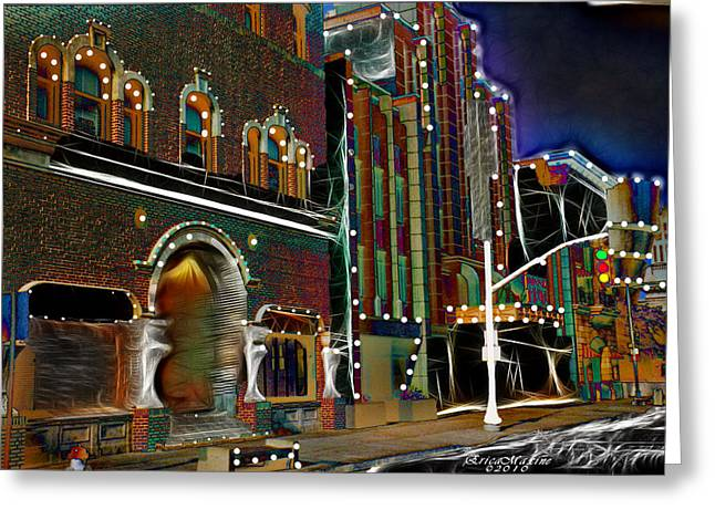 Greeting Card featuring the photograph City Scene by EricaMaxine  Price