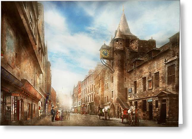 City - Scotland - Tolbooth Operator 1865 Greeting Card