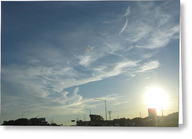 City Sky Scapers Greeting Card by Shelia Howe