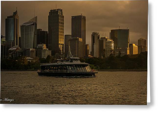 City Skyline  Greeting Card by Andrew Matwijec