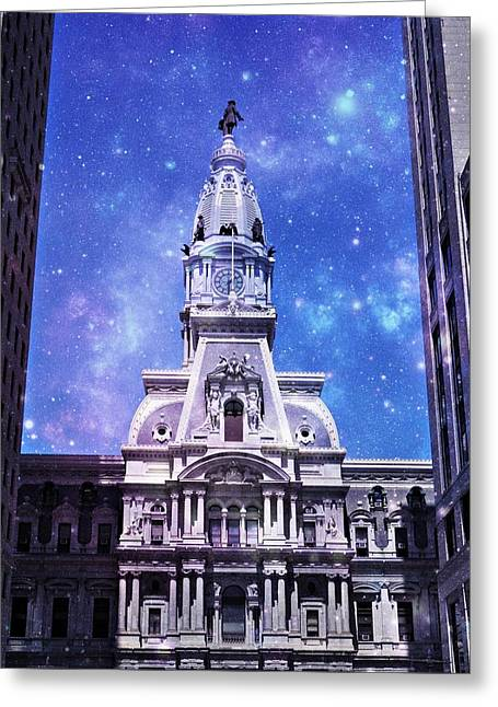City Space  Greeting Card