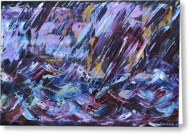 City Storm Abstract Greeting Card