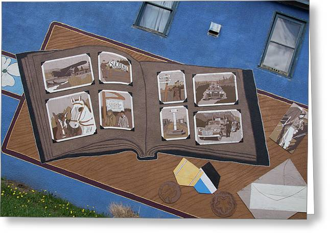City Street Art Greeting Card by Robert Braley