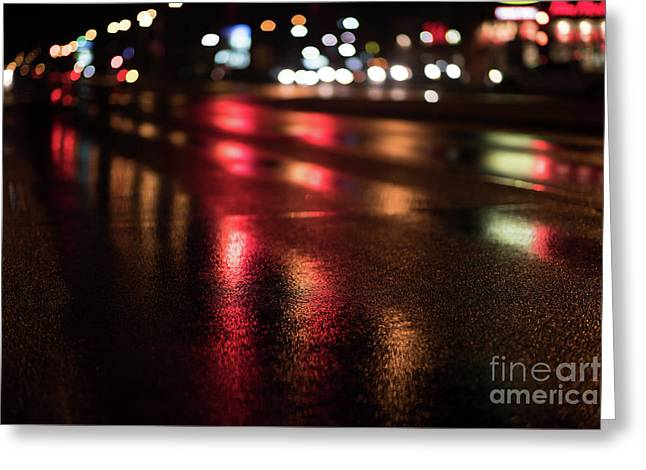 City Streets Greeting Card by Ian McGregor