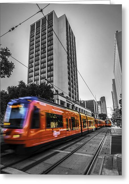 City Train Greeting Card by Phil Fitzgerald
