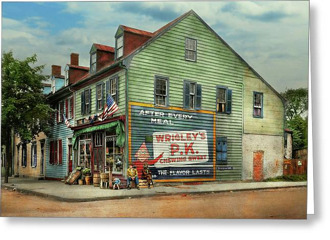 City- Va - C And G Grocery Store 1927 Greeting Card by Mike Savad