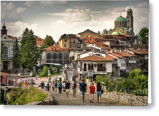 City - Veliko Tarnovo Bulgaria Europe Greeting Card