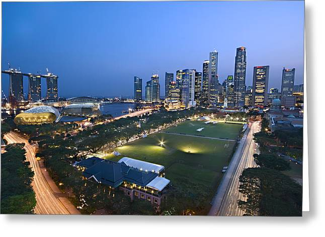 City View Of Singapore Greeting Card