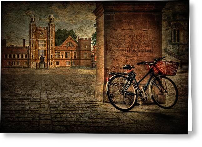 Texture Greeting Cards - City Wheels Greeting Card by Evelina Kremsdorf