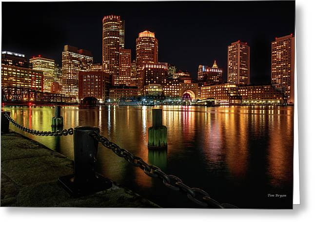 City With A Soul- Boston Harbor Greeting Card