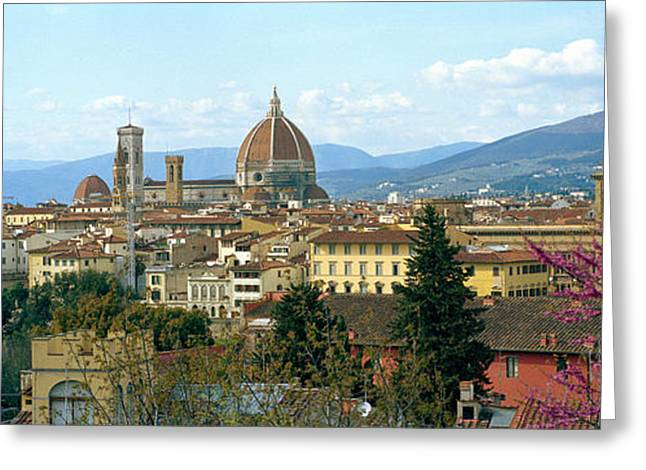 City With Florence Cathedral Greeting Card by Panoramic Images