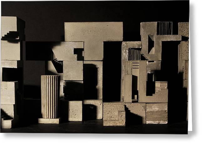 Cityscape 9 Greeting Card by David Umemoto