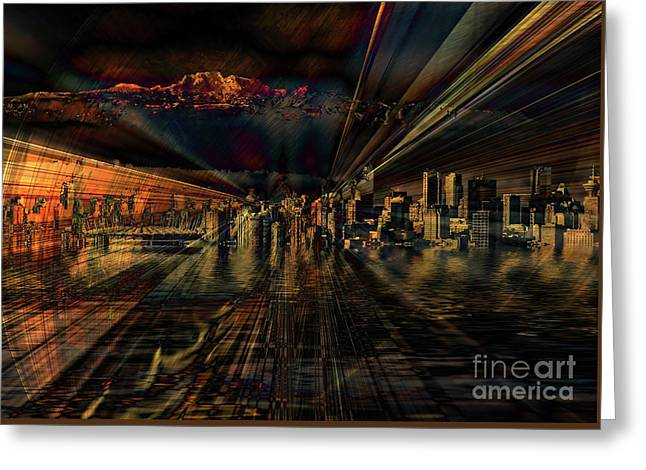 Cityscape Greeting Card by Elaine Hunter