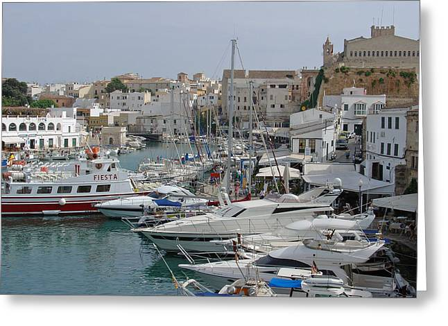 Ciutadella Marina Greeting Card by Rod Johnson