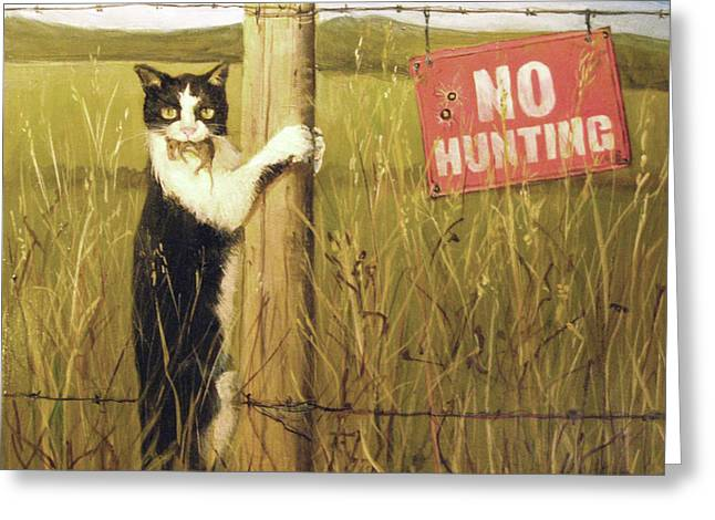 Civil Disobediance Greeting Card by Donna Tucker