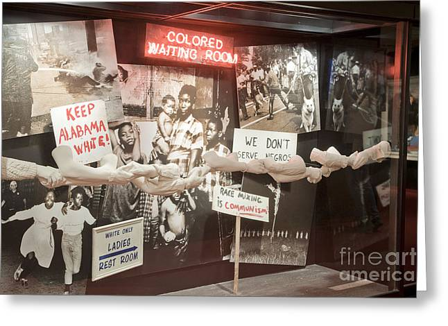 Civil Rights Movement Exhibit Greeting Card by Inga Spence