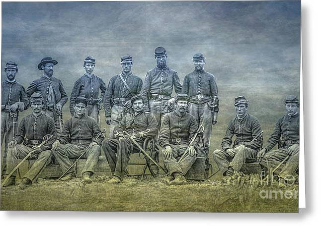 Civil War Band Of Brothers  Greeting Card by Randy Steele