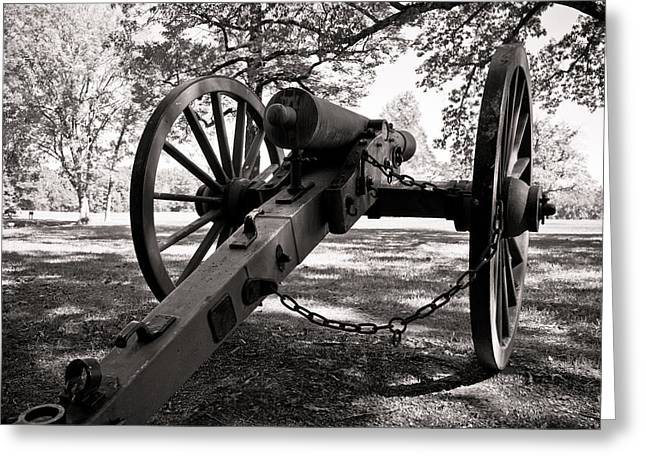 Civil War Cannon Greeting Card by Edward Myers