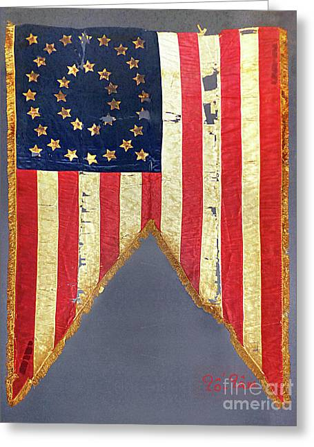 Civil War Flag With 35-stars Greeting Card