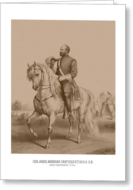 Garfield Greeting Cards - Civil War General James Garfield Greeting Card by War Is Hell Store