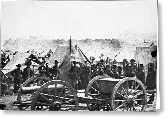 Brigade Greeting Cards - Civil War: Howitzer Gun Greeting Card by Granger