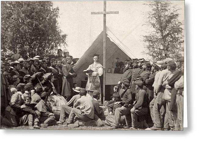 Civil War: Mass, 1861 Greeting Card by Granger