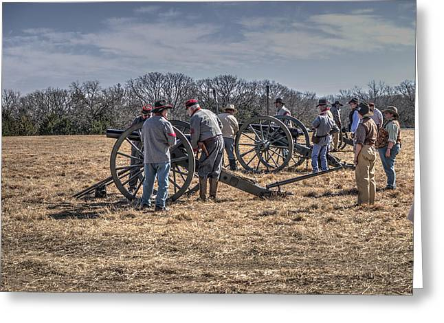 Civil War Round Mountain 2016  V17 Greeting Card by John Straton
