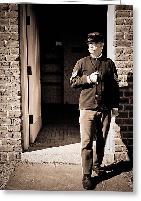 Civil War Sergeant Greeting Card by Rich Leighton