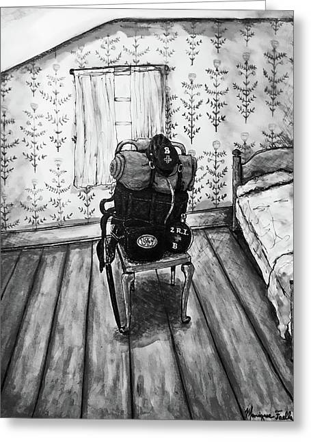 Rhode Island Civil War, Vacant Chair Greeting Card